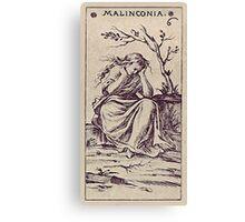 Malinconia Tarot Canvas Print
