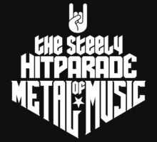 The steely Hitparade of Metal Music No.1 (white) Baby Tee