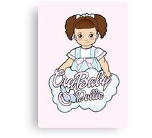 Cry Baby In Her Cloud Canvas Print