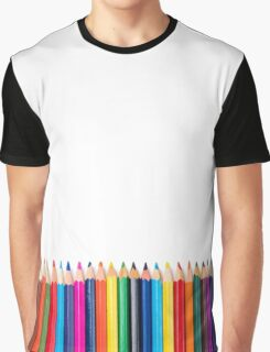 colored pencils closeup on white background Graphic T-Shirt