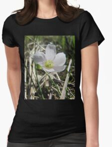 White flower from the past Womens Fitted T-Shirt