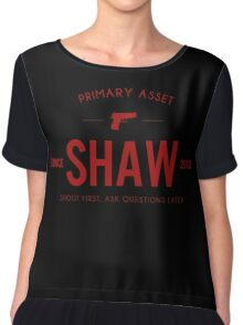 Person of Interest - Shaw - Black Chiffon Top