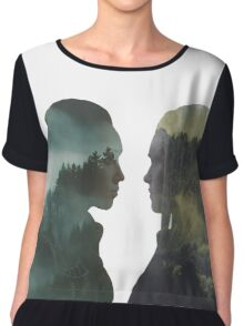 Clexa - The 100 - Forest Front Chiffon Top