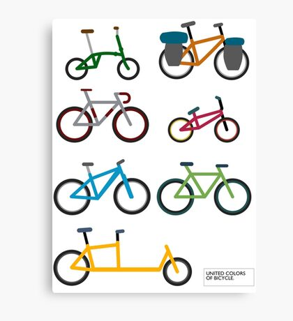 UNITED COLORS OF BICYCLES. Canvas Print
