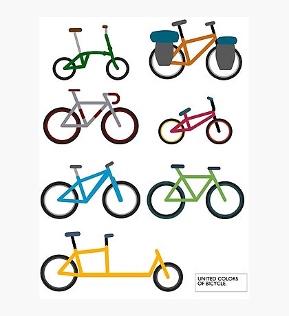 UNITED COLORS OF BICYCLES. Photographic Print
