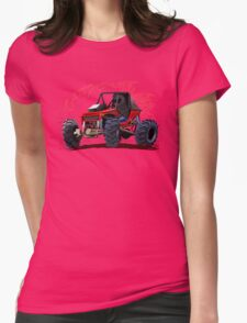 Cartoon Buggy Womens Fitted T-Shirt