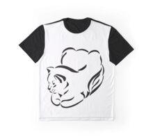 Figure cats black lines  Graphic T-Shirt