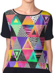 Quirky Triangles Chiffon Top