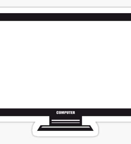 screen tv pc computer display image design Sticker