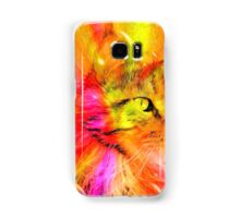 Funky Portrait of a Maine Coon cat    Samsung Galaxy Case/Skin