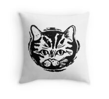 black cat, white cat Throw Pillow