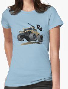 Cartoon Hummer Womens Fitted T-Shirt