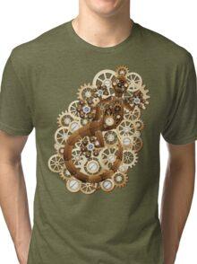 Steampunk Gecko Lizard Vintage Style Tri-blend T-Shirt