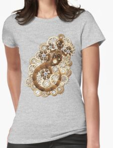 Steampunk Gecko Lizard Vintage Style Womens Fitted T-Shirt