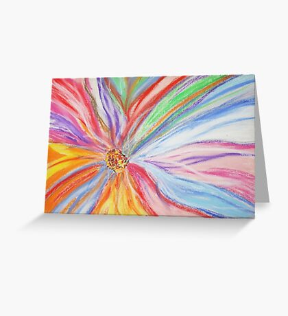 Abstract Floral Art  Greeting Card