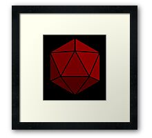 Simple D20 Die, Dice Framed Print