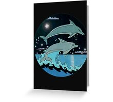 Dolphin`Leap for the Stars II' Tee Shirt Greeting Card