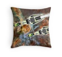 Two Galactic Cruiser/Fighters at NGC 3372  Throw Pillow