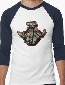 Cartoon Engine Men's Baseball ¾ T-Shirt