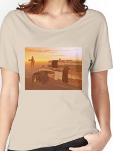 ARES CYBORG IN THE DESERT OF HYPERION,Sci Fi Women's Relaxed Fit T-Shirt