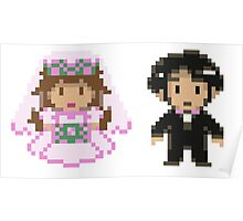 8-bit Bride and Groom Poster