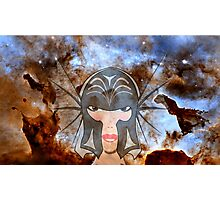 A Female Galactic Warrior at the Dust Pillars in the Carina Nebula Photographic Print