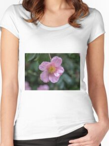 Pink Camellia - Macro Women's Fitted Scoop T-Shirt