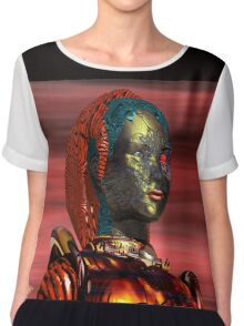 ARES CYBORG FROM HYPERION WORLD Sci-Fi Movie Chiffon Top
