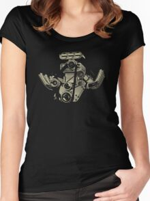 Cartoon Turbo Engine Women's Fitted Scoop T-Shirt