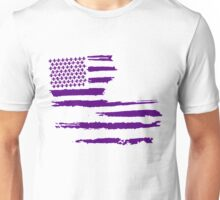 Purple Louisiana Flag Unisex T-Shirt