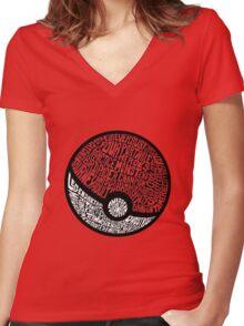 wild pokemon Women's Fitted V-Neck T-Shirt