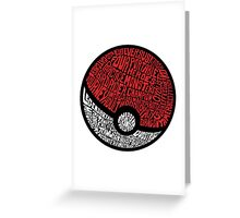 wild pokemon Greeting Card