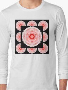 Romantic pink rose square Long Sleeve T-Shirt