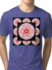 Romantic pink rose square Tri-blend T-Shirt
