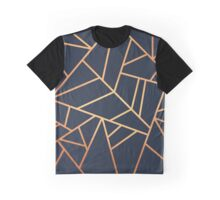 Copper and Midnight Navy Graphic T-Shirt