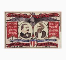 Artist Posters Public office is a public trust For President of the United States Grover Cleveland of New York For Vice President of the United States Allen G Thurman of Ohio 0380 One Piece - Long Sleeve