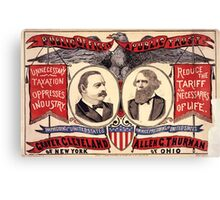 Artist Posters Public office is a public trust For President of the United States Grover Cleveland of New York For Vice President of the United States Allen G Thurman of Ohio 0380 Canvas Print