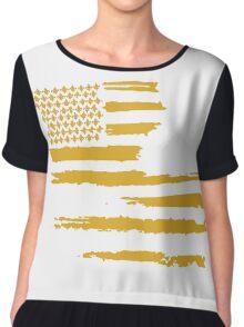 Gold Louisiana Flag Chiffon Top