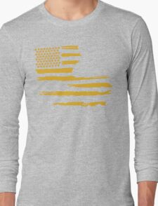Gold Louisiana Flag Long Sleeve T-Shirt