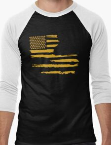 Gold Louisiana Flag Men's Baseball ¾ T-Shirt