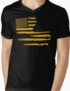 Gold Louisiana Flag Mens V-Neck T-Shirt