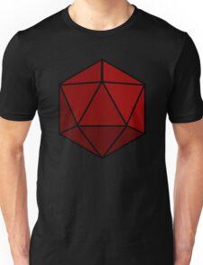 Simple D20 Die, Dice Unisex T-Shirt