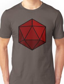 Simple D20 Die, Dice Unisex T-Shirt