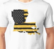 Black and Gold Louisiana Flag Unisex T-Shirt