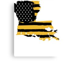Black and Gold Louisiana Flag Canvas Print