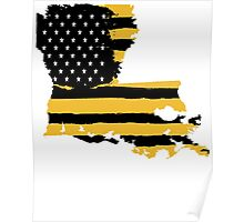 Black and Gold Louisiana Flag Poster