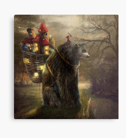 """A Bear Who Carried A Kingdom"" Metal Print"