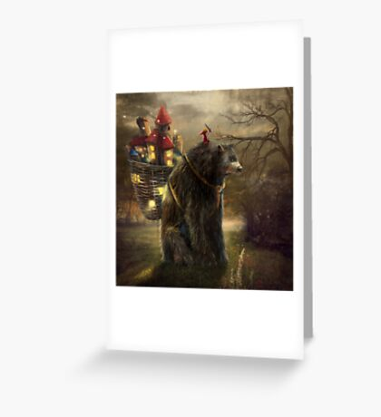 """A Bear Who Carried A Kingdom"" Greeting Card"