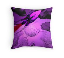 A Cruiser Interceptor on Patrol in the Purple Galaxy. Throw Pillow