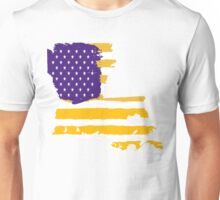 Purple & Gold Louisiana Flag Unisex T-Shirt